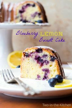 Blueberry Lemon Bundt Cake | Two in the Kitchen
