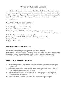 Business Letter Format Template Free Letters Organization  Home