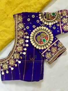Wedding Saree Blouse Designs, Pattu Saree Blouse Designs, Blouse Designs Silk, Blouse Patterns, Wedding Blouses, Kids Blouse Designs, Dress Designs, Hand Designs, Stylish Blouse Design