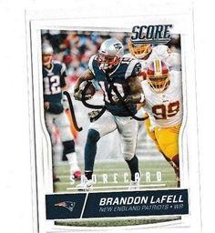 2016 Score Scorecard  Brandon LaFell #195 New England Patriots #Score #NewEnglandPatriots