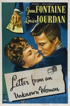 Letter from an Unknown Woman is a 1948 Drama, Musical film directed by Max Ophüls and starring Joan Fontaine, Louis Jourdan. Lauren Bacall, Classic Movie Posters, Classic Movies, Cary Grant, Old Hollywood Movies, Classic Hollywood, Hollywood Picture, Woman Movie, I Movie