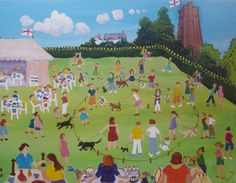 Churchstow Village Fair by Janette Jagger from the Devon: A Contemporary View exhibition at Harbour House, spring 2015