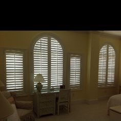 Arch Plantation Shutters by Affordable Blinds and More of Wilmington, NC