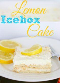 The Country Cook: Lemon Icebox Cake {No Bake}