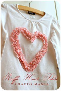 crafto-mania: Ruffle Heart T-shirt - Valentine Gift