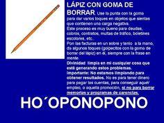 Ho´oponopono: HERRAMIENTAS HO´OPONOPONO - LAPIZ CON GOMA DE BORRAR