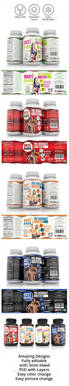 Supplement Label Template Vol-11 - Packaging Print Templates