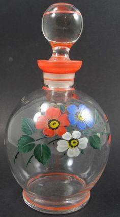 kl. Karaffe mit Blumenmalerei  (233/3029)
