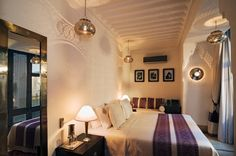 Yasmina Bedroom, located on the ground floor of Riad Adore. Option twin or double