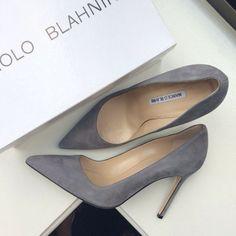 Grey suede Manolo Blahnik BB- fall shades