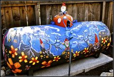 Creative and fun designs for your propane tank. For more information about propane service in Central Ontario visit http://www.budgetpropaneontario.com/