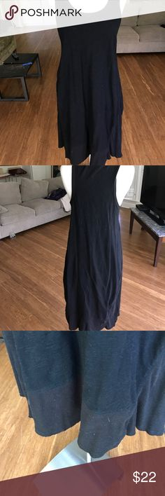 Simply perfect black summer dress This black dress is very similar to the Wilt brand. An asymmetrical bottom with Ribbing  at the hemline. Supersoft cotton very high-quality company and the price is right in excellent worn condition j o h Dresses Asymmetrical