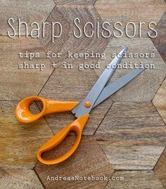 16. Keep your scissors sharp.