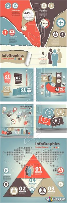 Infographics design template with numeration, part 40 - vector stock