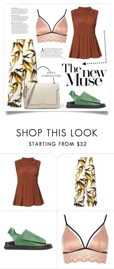 """""""Muse vs Old News"""" by virgamaleva ❤ liked on Polyvore featuring Marni, River Island and Anya Hindmarch"""