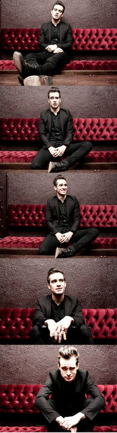 Brandon Urie - He looks like the Joker in the last pic. ;) Love it.