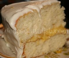 Homemade Butter Cake with Pineapple Filling  and Buttercream Cream Cheese Frosting