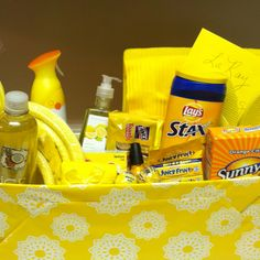 Sunshine box - this would be a good care package for a new college student or someone living on their own for the first time.