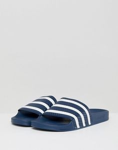 06fc127bd adidas Originals Adilette Sliders In Navy  mens-fashion  men-shoes footwear