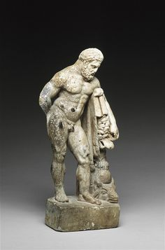 Hercules (Heracles), Roman statuette (marble), 2nd century AD, (Detroit Institute of Arts).