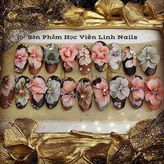 3d Acrylic Nails, 3d Nail Art, 3d Nails, Pink Nails, Garra, 3d Flower Nails, Nail Candy, Dream Nails, Manicure And Pedicure