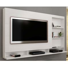 Creative Simple TV Wall Decor Idea for Living Room Design - If you just can& stand taking a look at your TV locate a way to hide it! If you simply can& - Tv Unit Decor, Tv Wall Decor, Tv Cabinet Design, Tv Wall Design, Living Room Tv Cabinet, Living Room Decor, Deco Tv, Modern Tv Wall Units, Tv Unit Furniture