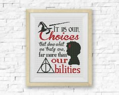 BOGO FREE Harry Potter Choices Cross Stitch от LittleCrossStitch