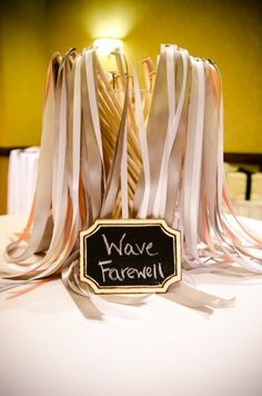 wave - funny have started to see .... ribbons, and fans waving, love this idea