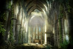 Postapocaliptic cathedral by ~vlad-m on deviantART