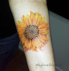 sunflower tattoo kylie heslop wild artist