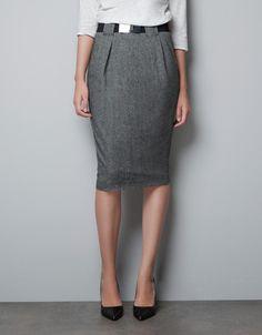 WOOL SKIRT - Skirts - Woman - ZARA United States
