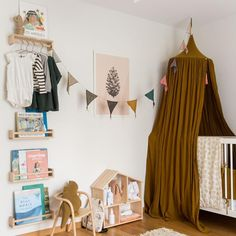 Creative nursery for baby Juliet by @70percentsteph What grabs my eyes is the amazing color of the canopy.