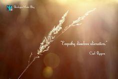 """Empathy dissolves alienation."" Carl Rogers  Embedded image permalink"