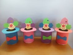 DIY crafts from baby's cream cans, fantastic! Carnival Crafts, Milk Box, Clowns, Diy Crafts, Cream, Creme Caramel, Make Your Own, Imperial Crown, Homemade