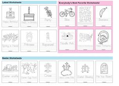 HUGE collection of Handwriting Practice Worksheets (including seasonal ones) at Twisty Noodle