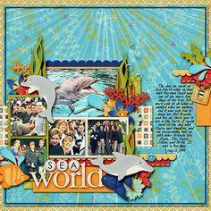 #seaworld scrapbook page