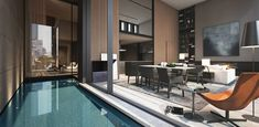 Soo Chan of SCDA Architects' design for the Soori High Line residences in NYC Nyc Apartment Luxury, Luxury Apartments, Luxury Homes, New York Condos, Nyc Condos, Scda Architects, Architects Sydney, Restaurant Hotel, New York Galleries