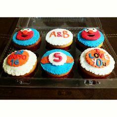 #deliquequis #cupcakes #fondant #plazasesame #elmo