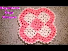 Dört Boyutlu Çiçek Lifi Anlatımlı baştan sona - YouTube Kare Kare, Crochet Projects, Elsa, Crochet Hats, Blanket, Youtube, Stitches, Patterns, Carpet