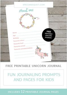 My daughter celebrated her eleventh birthday with a unicorn themed sleepover party. To keep the girls busy, I designed a printable unicorn journal for each of them to fill in. The kids were thrilled with the kit and had a lot of fun customising their journal pages. Download the printable unicorn journal for free! #printablejournal #unicornjournal #kidsjournal #kidsprintablejournal #cutejournal #unicornparty #diydiary #girlsjournal #girlsparty #partyidea #unicornbirthday #bulletjournal Unicorn Printables, Free Printables, Unicorn Birthday Parties, Unicorn Party, Journal Prompts, Journal Pages, Pen Quotes, Savings Chart, Cute Journals