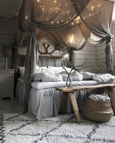 41 Glamorous Canopy Beds Ideas For Romantic Bedroom. Glamorous Canopy Beds Ideas For Romantic Bedroom 37 Ever since I was a child, I have adored canopy beds. Growing up, my parents had a great wrought iron […] Dream Rooms, Dream Bedroom, Home Decor Bedroom, Decor Room, White Bedroom, Pretty Bedroom, Bedroom Bed, Fantasy Bedroom, Farm Bedroom