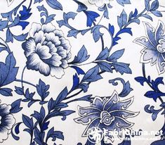 High quality silk fabric is made of 100% pure silk fastidiously. Exquisite Chinese blue-white porcelain flowers pattern, blue and white colors impress strong oriental tone.