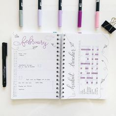 15 Super Pretty Monthlies ... like this soft, airy monthly log with habit tracker. And other bujo inspiration.