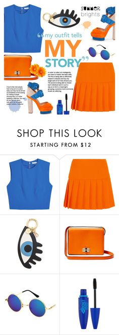 """My Outfit, My Story. ~ Summer Brights"" by alexandrazeres ❤ liked on Polyvore featuring Alice + Olivia, Miu Miu, Iphoria, Diane Von Furstenberg, Maybelline and summerbrights"