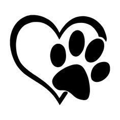 Pet Love Heart Die Cut Vinyl Decal Heart Paw Vinyl Decal car truck sticker bumper window adopt bully Heart cat dog Laptop Boat Truck AUTO Bumper Wall Graphic New Truck Stickers, Car Decals, Bumper Stickers, Vinyl Decals, Dog Tattoos, Paw Print Tattoos, Heart Tattoos, Dog Paws, String Art
