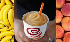 Jamba Juice Peach Pleasure Smoothie is the original peach smoothie that helped fuel Jamba Juice's meteoric rise. This recipe will show you how to make one. Jamba Juice Recipes, Wine Recipes, Smoothie Recipes, Vitamix Recipes, Breakfast Smoothies, Fruit Smoothies, Healthy Smoothies, Healthy Food, Healthy Eating