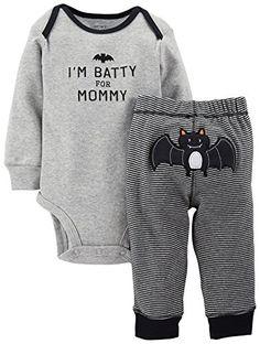 Carter's Baby Boys' Black 2-Piece 'I'm Batty For Mommy' Halloween Set (Baby) $14.99-$24.94