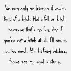 Lol! True! I love it!