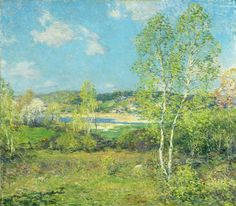 "Willard Leroy Metcalf (1858-1925), ""Maytime"" (Bright Hues...) - Akron Art Museum ~ Akron, Ohio, USA"
