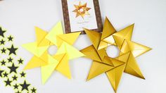 Weihnachtsstern falten🌟Wunderschöne Origami Deko aus 8 Teilen   Einfach ...